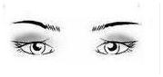 occhi coperti da piega palpebrale