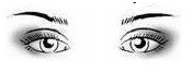 occhi distanziati