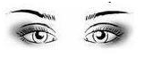 occhi ravvicinati